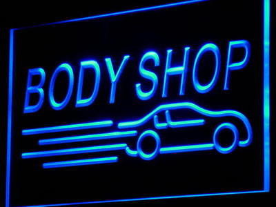 Body Shop Auto Neon Sign (Car Display Decor Light)