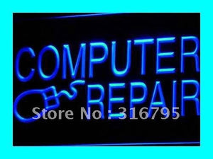 Computer Repair Neon Sign (Internet Laptop LED Light)