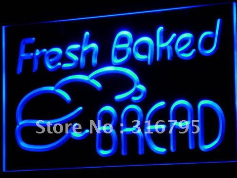 Fresh Baked Bread Neon Sign (Bakery Shop NR LED Light)