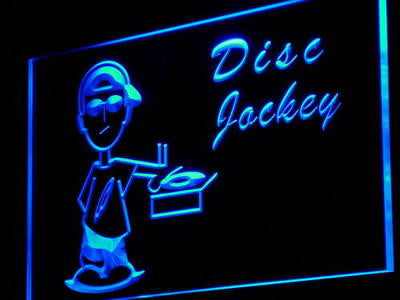 Disc Jockey DJ Neon Sign (Disco Music Player Light)