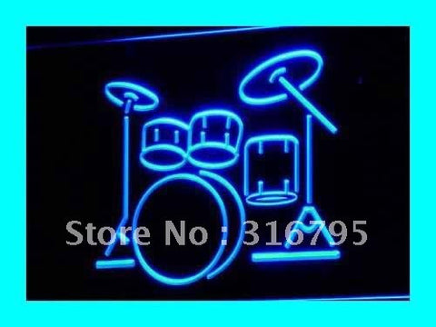 My Band. Room Drum Neon Sign (Music Instruments Light)