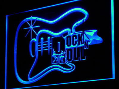 Guitar Rock n Roll Neon Sign (Dancer Music Gift Light)