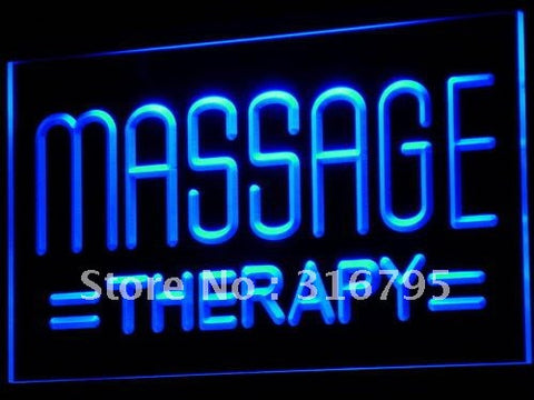 Massage Therapy Neon Sign (Body Shop Display Light)