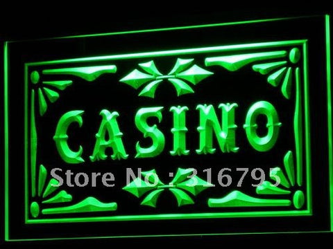 Casino Neon Sign (Beer Pub Games Poker Bar LED Light)