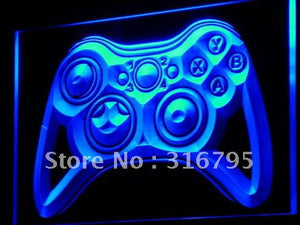 Game Controller Neon Sign (Light Console Bar Pub LED)