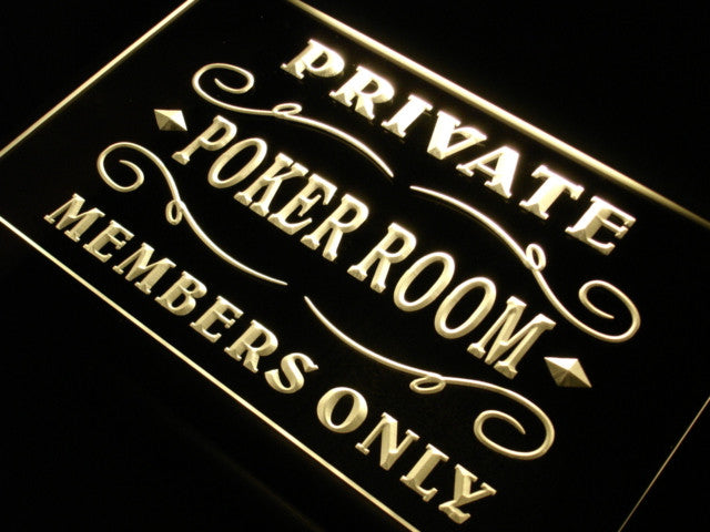 Private Poker Room Member Room Neon Sign (LED Light)