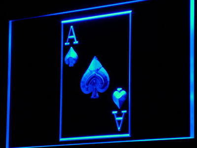 Ace Poker Casino Neon Sign (Display Game Decor Light)