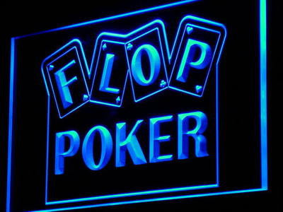 Flop Poker Game Casino Neon Sign (Display Decor Light)