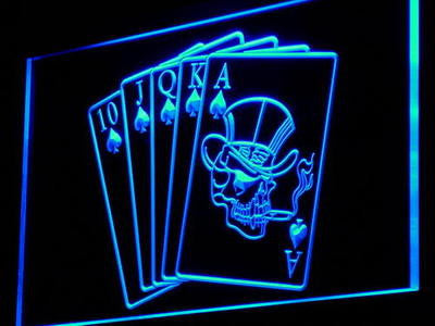 Royal Flush Casino Poker Game Neon Sign (Gift Light)