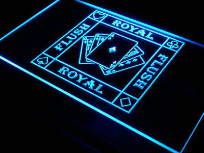 Royal Flush Poker Casino Ace Bar Neon Sign (Decor Light)