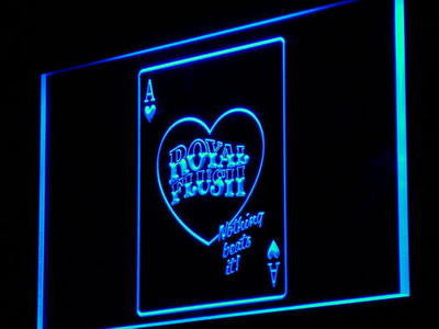 Royal Flush Poker Game Casino Neon Sign (Shop Light)
