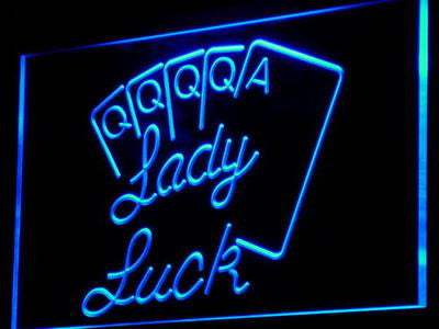 Lady Luck Poker Game Casino Neon Sign (Light Decor)