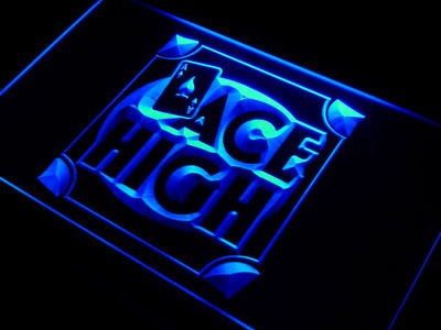 ACE HIGH Poker Room Neon Sign (Decor Light)
