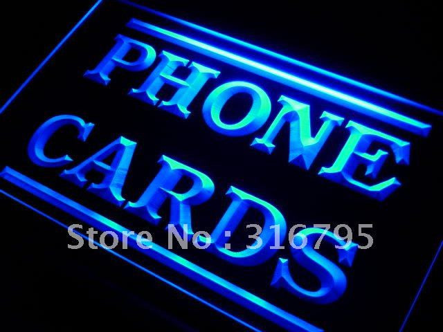 Phone Cards Services Neon Sign (Light. LED)