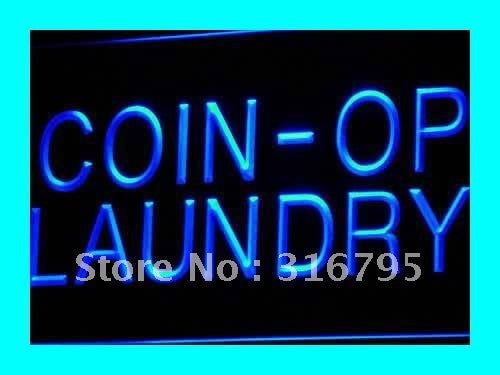 Coin-op Laundry Neon Sign (Dry Clean Display LED Light)