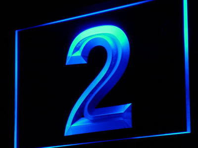 2 Number Two Neon Sign (Display Decor Decor Light LED)
