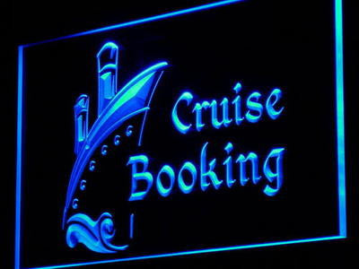 Cruise Booking Travel Agency Neon Sign (Light Decor)