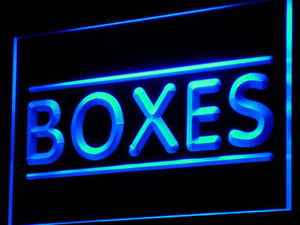 Boxes Shop Neon Sign (Light Display Lure Box Decor)