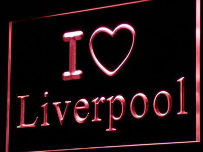 I Love Liverpool Neon Sign (Light Bar Pub Club Decor)