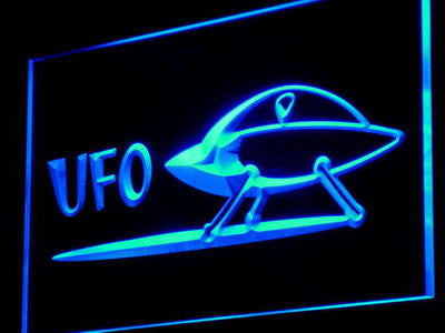 Space Ship Alien UFO Cartoon Neon Sign (Decor Light LED)