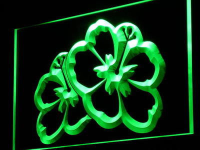 HAWAIIAN Flowers Neon Sign (Home Decor Display Light LED)
