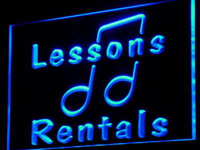 Music Lessons Rentals School Neon Sign (Decor Light LED)