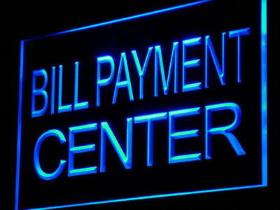 Bill Payment Center Neon Sign (Lure Adv Ad Shop Light LED)