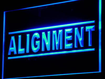 Alignment Service Window Neon Sign (Display Decor Light LED)
