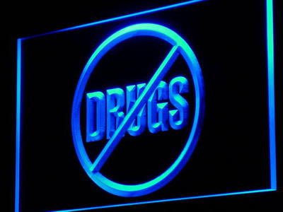No Drugs Neon Sign (Display Warning Bar Light Decor LED)