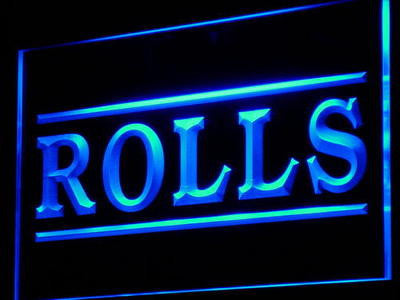 Rolls Neon Sign (Cafe Shop Display Bar Beer Decor Light LED)