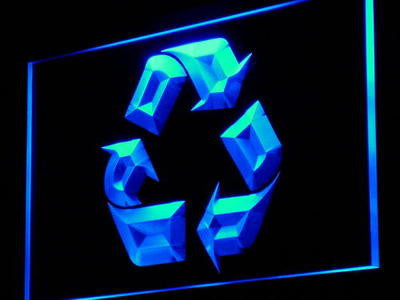 Recycle Neon Sign (Display Shop Lure Decor Light LED)