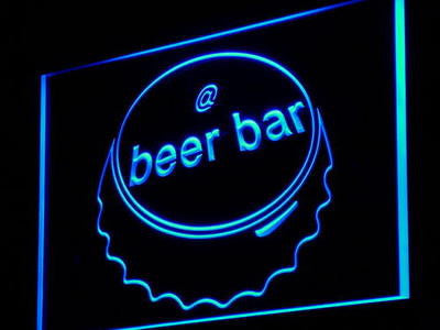 Beer Bar Neon Sign (Cap Display Internet Pub Decor Light LED)