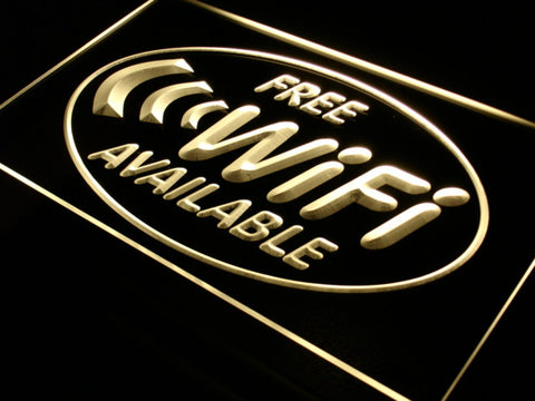 Free Wi-Fi Internet Access Neon Sign (Cafe LED Light)