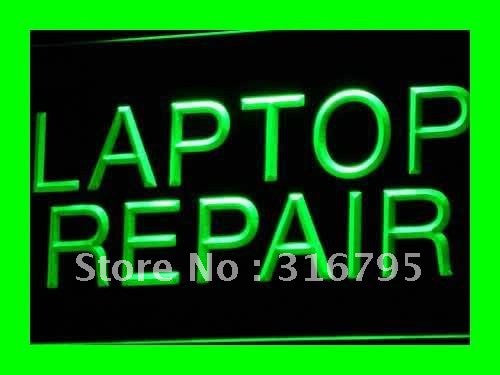 Laptop Repair Neon Sign (Light Computer Notebook LED)