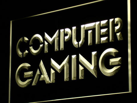 Computer Gaming Neon Sign (Internet Cafe Shop Light LED)