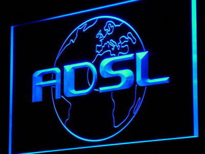 ADSL Neon Sign (Internet Shop Connection Cafe Light LED)