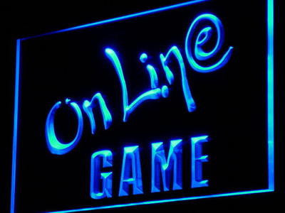Online Game Neon Sign (Cafe Center Internet Lure Light LED)