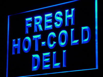 Fresh Hot Cold Deli Neon Sign (Food Cafe Decor Light LED)