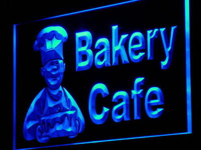 Bakery Cafe Neon Sign (Shop Bread Cake Light Decor LED)