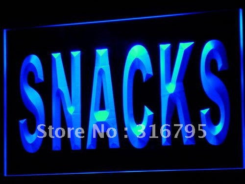 Snacks Neon Sign (Food Cafe Shop Bar Pub LED Light)