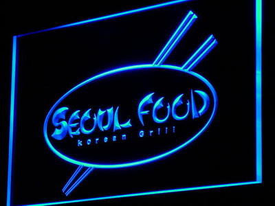 Seoul Food Korean Restaurant Neon Sign (Decor Light LED)