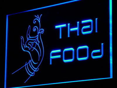 Thai Food Neon Sign (Thailand Restaurant Café LED Light)