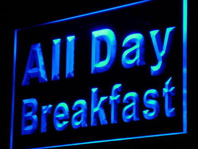 All Day Breakfast Neon Sign (Cafe Restaurant Decor Light LED)