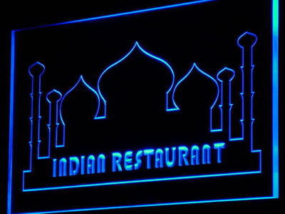 Indian Restaurant Neon Sign (Cafe Food Decor Light LED)