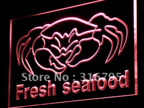 Fresh Seafood Neon Sign (Crab Chinese Restaurant Light LED)