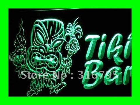 Newest Tiki Mask Neon Sign (Beer NR LED Light Bar Pub)