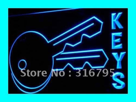 KEYS KEY LOCKSMITHS LOCKS Repair Shop Neon Sign (Light. LED)