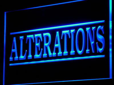 Alterations Services Neon Sign (Light. LED Dry Clean Decor )