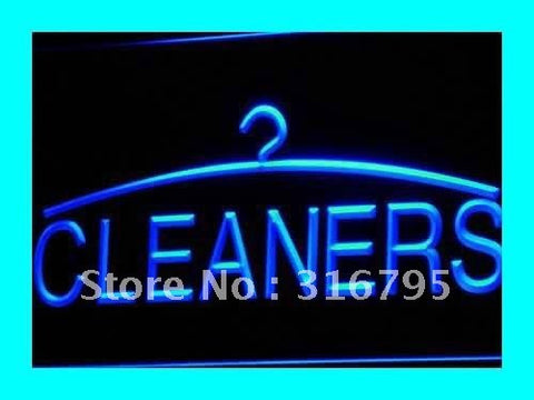 Cleaners Neon Sign (Light Dry Cleaning Laundromat LED)