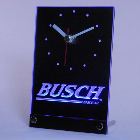 Busch Beer Bar Table Desk 3D LED Clock